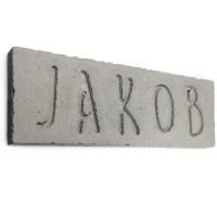 Beton-Namensschild 'massiv' (max. 16 Buchstaben)