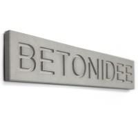 Beton-Namensschild 'namecrete' (bis 14 Buchstaben)